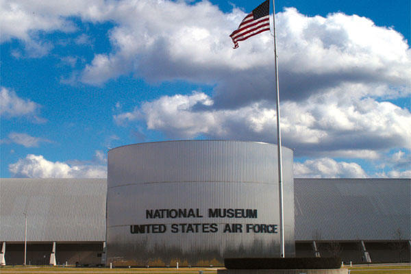 Front view of the National Museum of the United States Air Force. (U.S. Air Force photo)