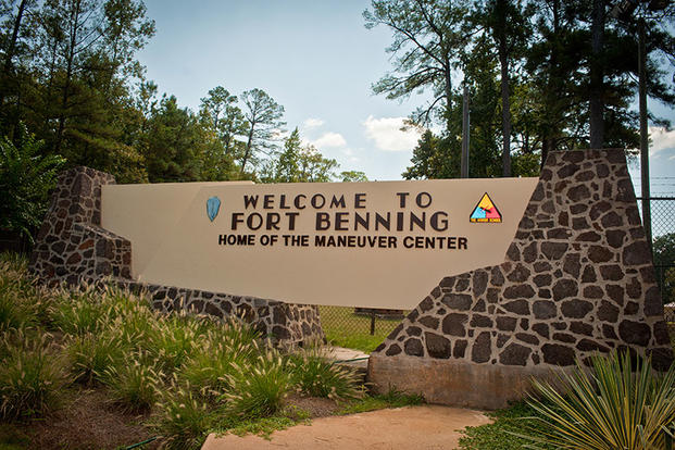 Sign at the entryway to Fort Benning (U.S. Army photo)