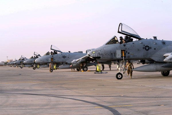 Several A-10 Thunderbolts II arrive in support of regional military activities including Operation INHERENT RESOLVE (U.S. Air Force photo by Tech. Sgt. Jared Marquis)