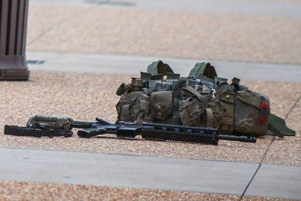 A Fort Bragg, N.C., soldier was arrested in a Fayetteville shopping mall July 2 for carrying an AR15 rifle, military equipment and ammunition.Associated Press.