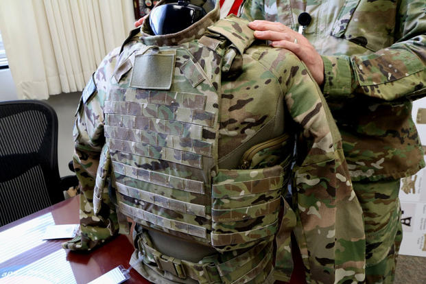 The armored vest portion of the Army's new Soldier Protection System. (Photo by Matthew Cox/Military.com)