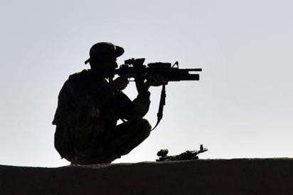 Afghan Commando on Watch