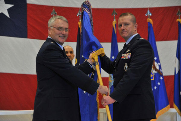Col. Robert Stanley (right), former commander of the 341st Missile Wing, resigned Thursday following the investigation into the cheating scandal under his command.