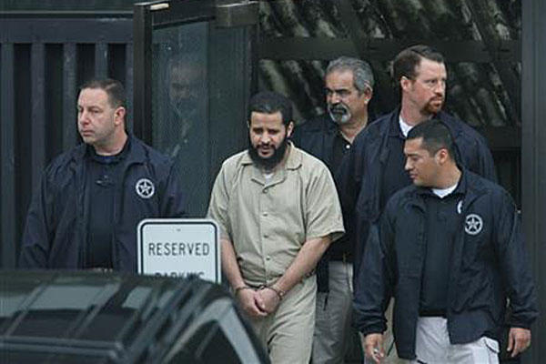 Mufid Elfgeeh is taken out of Federal Court in Rochester, N.Y. Elfgeeh is accused of plotting to kill members of the U.S. military and others. Carlos Ortiz/AP photo