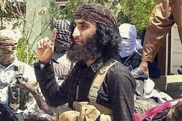 Abu Khattab al-Kurdi, or Abu Khattab the Kurd, one of the Islamic State group's top military commanders in the offensive on the Syrian city of Kobani (AP Photo/Jihadis website)