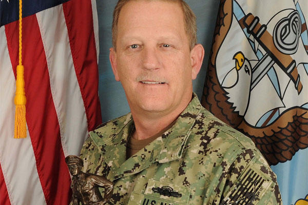 Senior Chief Gunner's Mate (SW/EXW) Robert Hyatt of Navy Expeditionary Combat Command. (U.S. Navy photo by Mass Communication Specialist 3rd Class Lauren Booher)