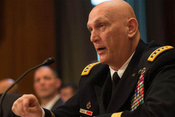 Army Chief of Staff Gen. Ray Odierno answers a question during the Senate Committee on Appropriations hearing in Washington, D.C., March 11, 2015. (U.S. Army photo: Staff Sgt. Mikki L. Sprenkle)