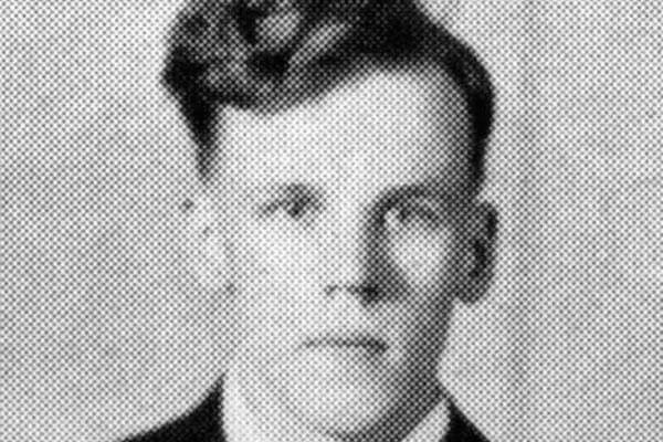 This 1940 Valley Bugle yearbook photo provided by the Gowanda Central School District in Gowanda, N.Y., shows World War II veteran Carroll Heath. (Courtesy of Gowanda Central School District via AP)