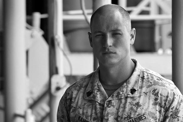 Marine Corps Sgt. Jan Kamphuis, an air traffic controller with Marine Medium Tiltrotor Squadron 162, poses Oct. 10, 2015, aboard the USS Kearsarge. (Photo: Cpl. Joshua W. Brown)