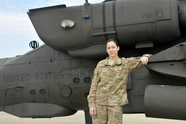 Warrant Officer Jessica McCormick is the first female Mississippi Army National Guard Apache pilot.(U.S. Army photo/Pfc. Christopher Shannon)