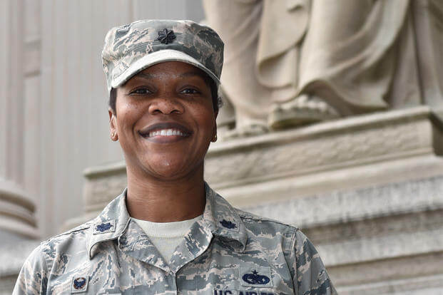 Lt. Col. Vianesa Vargas, joined the Joint Task Force - National Capital Region in support of the 58th Presidential Inauguration, which will take place Jan. 20, 2017. (U.S. Air Force photo/Senior Airman Dylan Nuckolls)