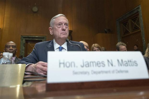 Defense Secretary James Mattis discusses the DoD's fiscal year 2017 budget request during testimony before the Senate Appropriations Committee, March 22, Navy/Petty Officer 2nd Class Dominique A. Pineiro)