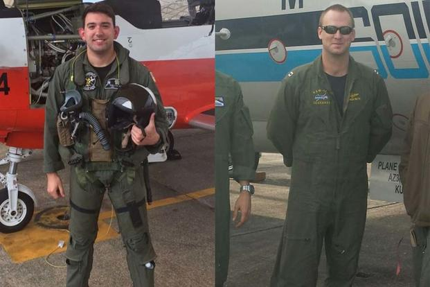 Lt. j.g. Wallace Burch of Horn Lake, Mississippi (left) and Lt. Patrick Ruth of Metairie, Louisiana. (Navy Photos)