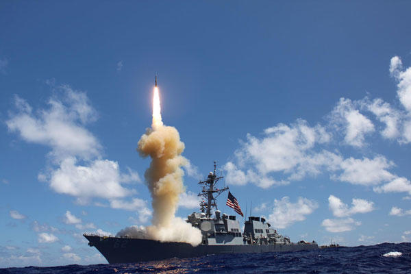 Tensions in Ukraine have forced the U.S. to revisit its missile defense policy. (U.S. Navy photo)