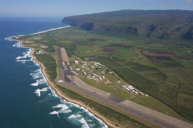 Aerial view of Pacific Missile Range Facility on Kauai, Hawaii (Photo: Wikimedia Commons by Polihale)