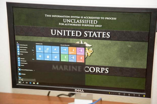 Marine Corps computer. Photo by Keith Hayes/Marine Corps