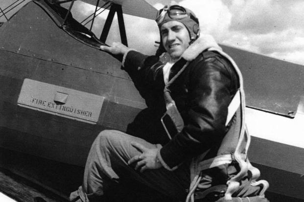 Louis Zamperini poses at Midland Army Airfield circa 1941.