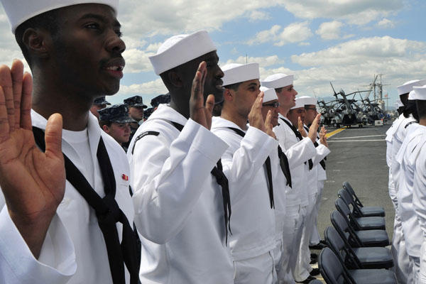 Sailors on the USS Essex