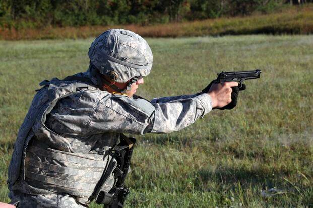 0c78a0a5e9c U.S. Army Sgt. Felipe A. Montoya qualifies with the M9 Beretta pistol  during a