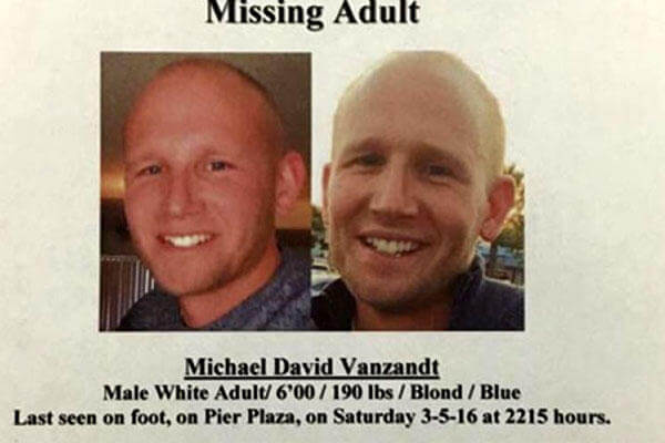 The missing Air Force veteran was last seen by friends on March 5 in Hermosa Beach, Calif. (Hermosa Beach Police Department photo)