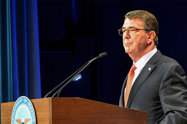 Defense Secretary Ash Carter delivers the keynote address on June 9 during the Defense Department's Lesbian, Gay, Bisexual and Transgender Pride Month ceremony at the Pentagon. (DoD photo/Clydell Kinchen)