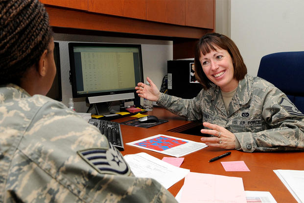 U.S. Air Force Master Sgt. Michele Deaner, career assistance advisor, 354th Fighter Wing