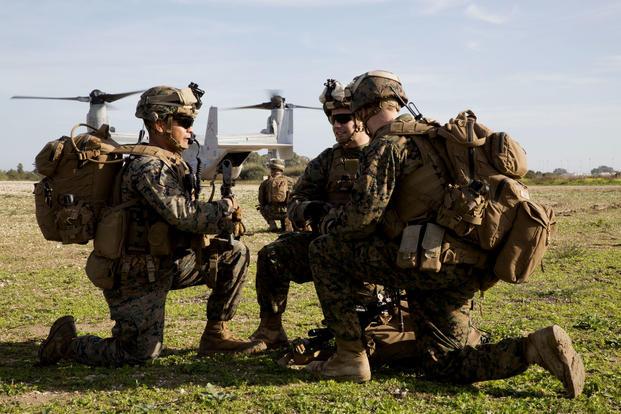 MEDIUM Usmc Marine Special Operations School Hoodie Sof Navy