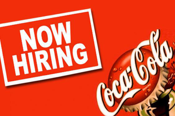 Coke now hiring ad.