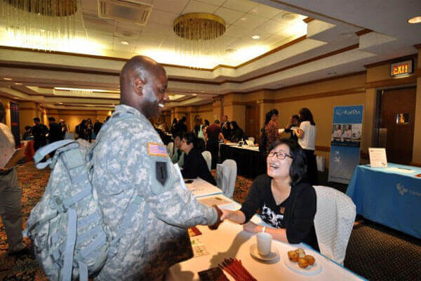 sergeant at job fair
