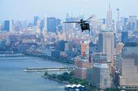 FILE -- A Maine Army National Guard UH-60 Black Hawk flies over the New York City skyline. (Army Photo: 3/142nd Aviation Regiment)