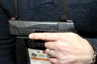 Hudson Manufacturing unveiled changes to its striker-fired H9 at SHOT Show 2018. (Matthew Cox/Military.com)