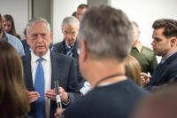 Defense Secretary James N. Mattis speaks with members of the press at the Pentagon in Washington, D.C., Jan. 5, 2018. (DoD photo/Army Sgt. Amber I. Smith)