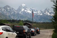 An entrance station at Grand Teton National Park, Wyoming. (National Park Service)