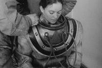 Donna Tobias became the first woman to graduate from the Navy's Deep Sea Diving School in 1975. (U.S. Navy photo)