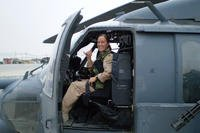 MJ Hegar served in the Air Force for 12 years, first as an aircraft maintenance mechanic and later as a pilot. She deployed three times to Afghanistan, earning the Distinguished Flying Cross on her final tour. Courtesy MJ Hegar's campaign