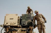 Soldiers of the 5th Air Defense Artillery Regiment demonstrate reloading a Patriot missile battery at Camp Buerhing, Kuwait in April 2017. (US Army Photo/Sean McCollum)