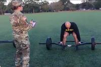 Military.com gets a demonstration of the proper technique for the strength deadlift portion of the Army's new Combat Fitness Test. (Screenshot of Military.com video)