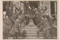 Soldiers of the New York National Guard's 27th Division celebrating the end of World War I following the Armistice on Nov. 11, 1918. (Courtesy photo)