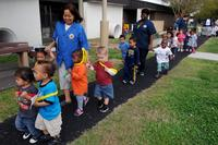 Naval Support Activity Hampton Roads Child Development Center hosts a Month of the Military Child parade. (Navy Photo)