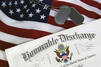 Honorable Discharge Certificate With Dogtags