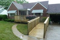 wheelchair ramp on a house