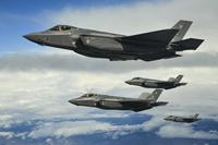 FILE -- Hill Air Force Base F-35As fly in formation over the Utah Test and Training Range, March 30, 2017. (U.S. Air Force/R. Nial Bradshaw)