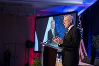 Secretary of the Navy Ray Mabus delivers remarks at the 29th annual Surface Navy Association (SNA) National Symposium. (U.S. Navy photo by Mass Communication Specialist 1st Class Armando Gonzales/Released)