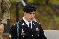 Army Sgt. Bowe Bergdahl of Hailey, Idaho, leaves a military courthouse on December 22, 2015 in Ft. Bragg, North Carolina (Photo by Sara D. Davis/Getty Images)